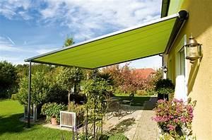 pergola markise zum sonnenschutz 23 beispiele With markise balkon mit grün graue tapete