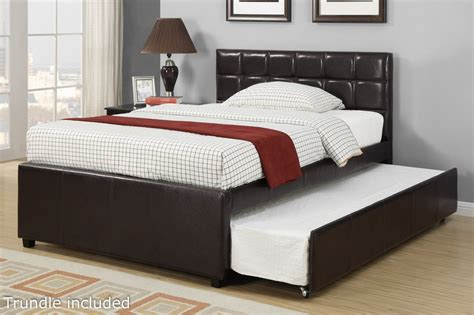 size bed with trundle poundex f9215f size bed with trundle in los angeles ca