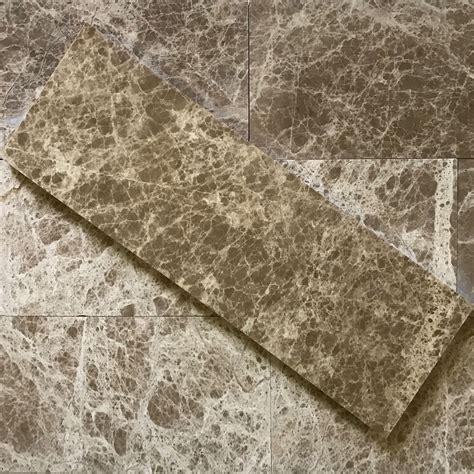 4 x 12 Tile Emperador Light Marble Polished