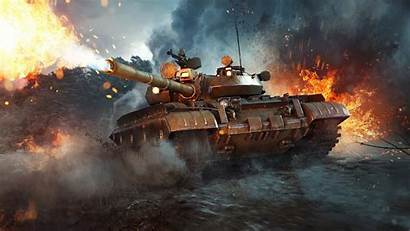 Thunder War Warthunder Tank 55am Military Fire