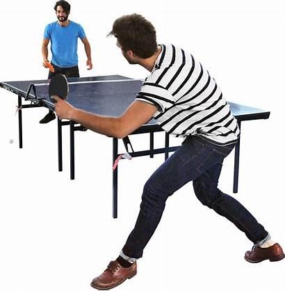 Table Tennis Cut Skalgubbar Playing Cutout Pingpong