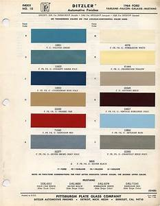 1964 1 2 mustang colors   1964 1/2 ford mustang color chart with paint mixing codes   Maine ...