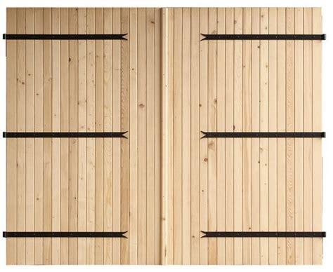 porte de garage bois porte de garage 224 deux vantaux en bois d 233 pic 233 a h 2 m l 2 40 m brico d 233 p 244 t