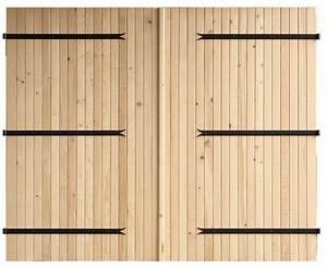 Porte De Garage Pliante À La Française 4 Vantaux : porte de garage deux vantaux en bois d 39 pic a h 2 m l 2 40 m brico d p t ~ Nature-et-papiers.com Idées de Décoration