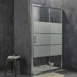 Porte de douche coulissante battante et fixe en 95 idees for Porte de douche coulissante avec suspension de salle de bain