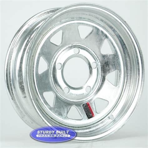 Boat Trailer Wheel Pattern by 13 Inch 5 Bolt Galvanized Spoke Boat Trailer Wheel 5 On 4