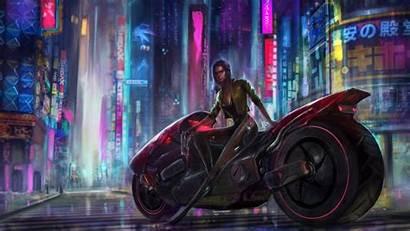Cyberpunk 4k Wallpapers Biker Cyborg Artist Futuristic