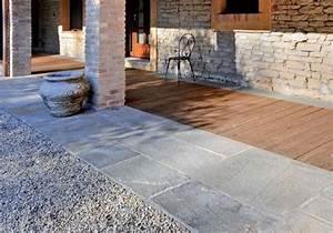 Terrasse Holz Stein : steinplatten f r terrasse verlegen terrassenplatten ~ Watch28wear.com Haus und Dekorationen