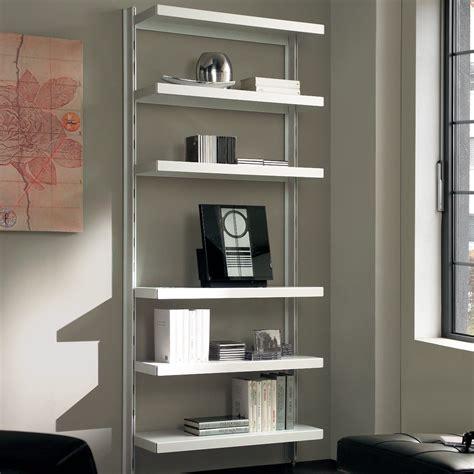 scaffali design scaffale in metallo nolan a muro in acciaio bianco 85 x 32