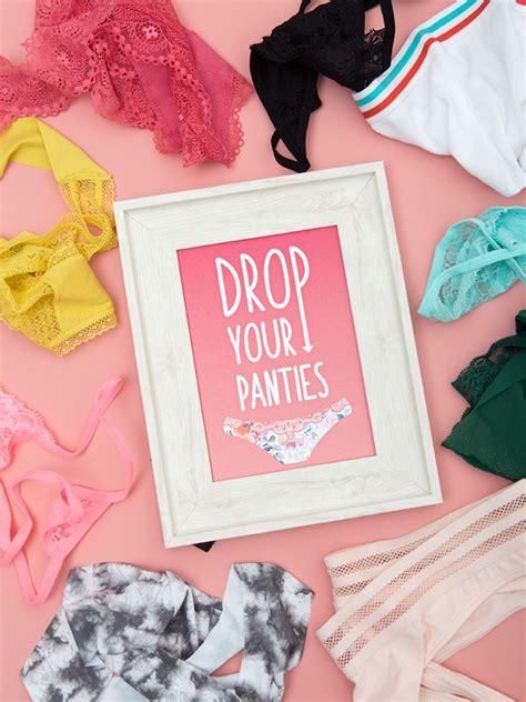 Simple Diy Drop Your Panties Game Something Turquoise