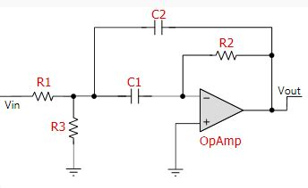 Resolved Multiple Feedback Band Pass Filter General