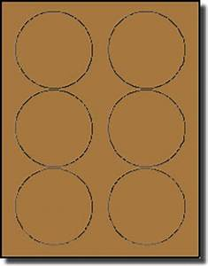 120 round brown kraft labels 3 1 3 inch diameter stickers for Avery round label sizes