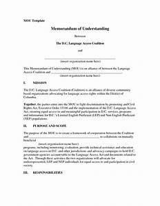 dozerausm memorandum of understanding template form With template for a memorandum of understanding