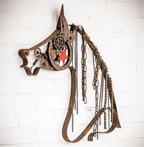 Novica, the impact marketplace, features unique horse wall decor by some of the most talented artists on the planet. Rustic Metal Horse with Chain Mane