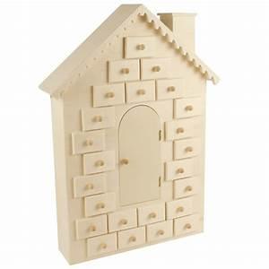 Calendrier De L Avent Maison : calendrier de l 39 avent d corer maison en bois 42cm ~ Preciouscoupons.com Idées de Décoration