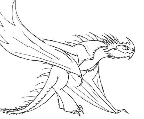 Baby Night Fury In How To Train Your Dragon Coloring Pages