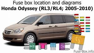 Fuse Box Location And Diagrams  Honda Odyssey  2005-2010