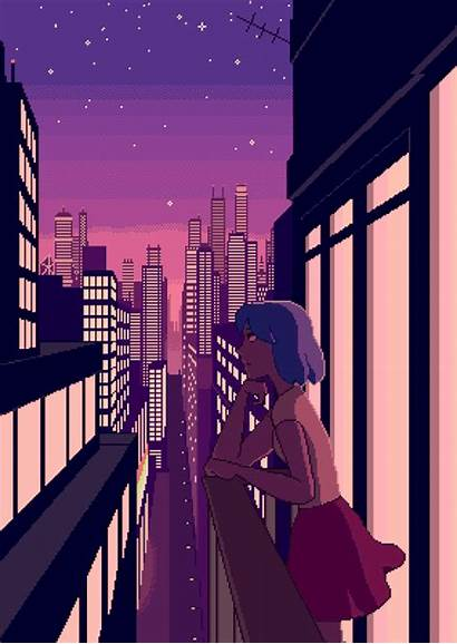 Anime Pixel Gifs Animation Aesthetic Animated Kawaii