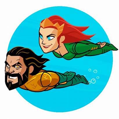 Aquaman Swimming Comics Gifs Mera Imdb Bioskop