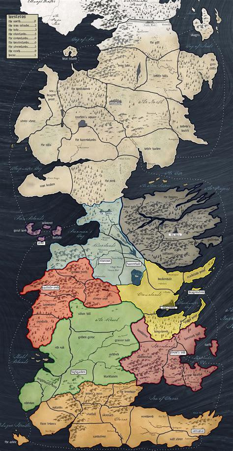 westeros map      game  thrones risk geek