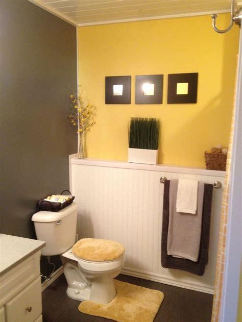 bathroom ideas in grey grey and yellow bathroom ideas half bath