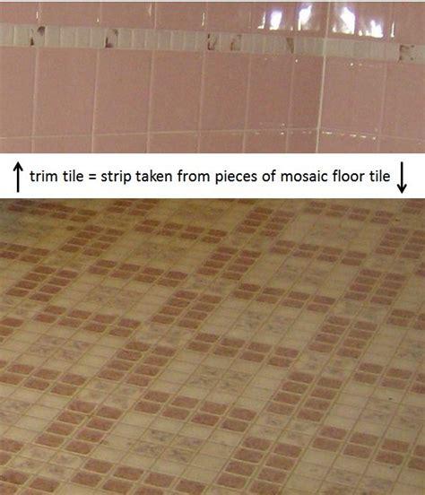 bathroom tile ideas 2011 idea for inexpensive bathroom trim tile use pieces of