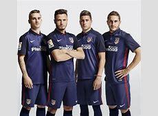 Blue Atletico Madrid Away Shirt 201516 Nike Atleti
