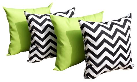 sundeck lime green and chevron black and white outdoor