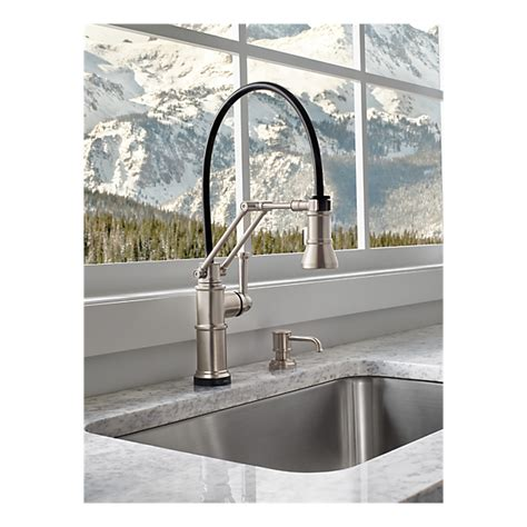 Articulating Arm Kitchen Faucet by Single Handle Articulating Kitchen Faucet With Smarttouch