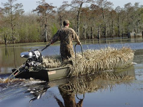 Duck Hunting Out Of A Boat Blind by Go Devil 18 Grass Blinds Go Devil Manufacturers