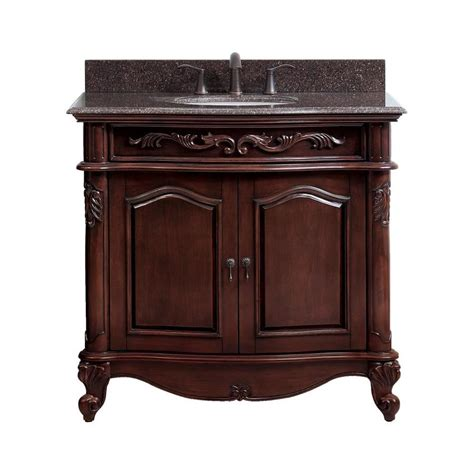avanity provence   antique cherry single sink bathroom