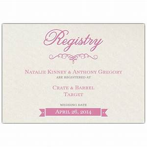 pretty bride bridal registry cards paperstyle With registry for wedding gifts