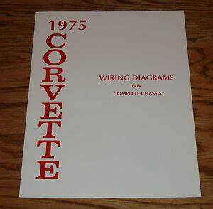 1975 Chevrolet Corvette Wiring Diagram Manual For Complete