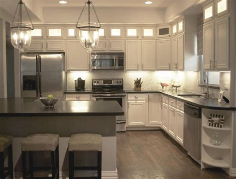 Lit Kitchen Cabinets   Transitional   kitchen   A Well