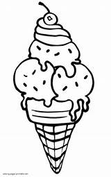Ice Cream Coloring Pages Printable Summer Helados Colouring Drawing Candy Cupcake Sheets Visit sketch template