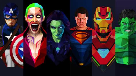 Animated Superheroes Hd Wallpapers - marvel and dc artwork hd superheroes 4k wallpapers