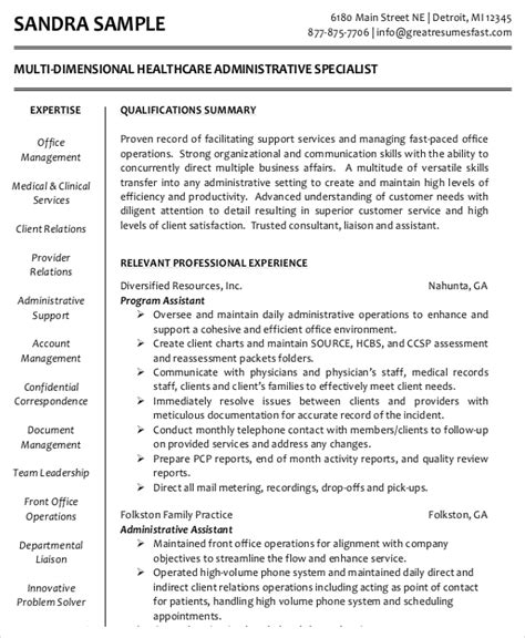 Assistant Resume Template Free by 9 Administrative Assistant Resume Templates Free