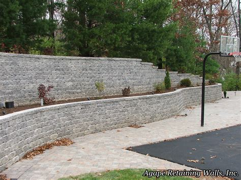 terraced retaining wall agape retaining walls inc terrace photo album 1