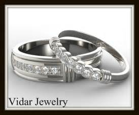 his and hers matching wedding ring sets matching wedding band set for his and hers vidar jewelry unique custom engagement and