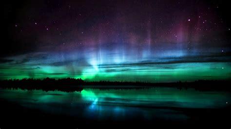 krajobrazy jeziora zorze polarne aurora borealis tapeta