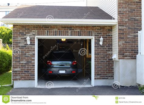 Car In The Garage Stock Photo Image Of Door, Residential