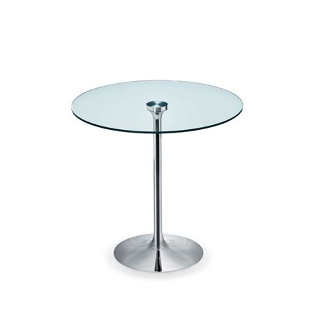 Table Ronde 100 Cm Table Ronde Infinity Midj Plateau Verre Pied Chrom 233
