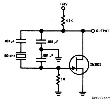Stable Low Frequency Crystal Oscillator Signal