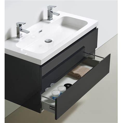 meuble vasque 100 cm meuble bois fonc de salle de bain