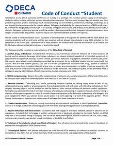 code of conduct sample in word and pdf formats With code of conduct sample template