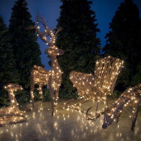 lighted grapevine reindeer outdoor christmas topiary and grapevine reindeer on sale