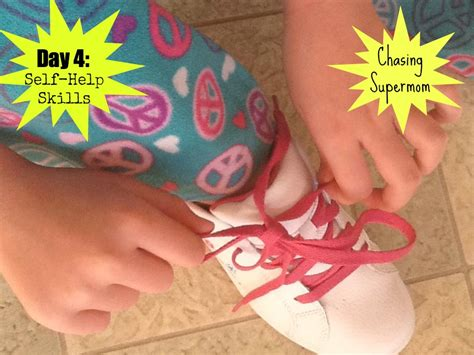 ready for kindergarten day four self help skills 971 | shoes