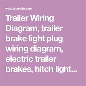 Trailer Wiring Diagram  Trailer Brake Light Plug Wiring Diagram  Electric Trailer Brakes  Hitch