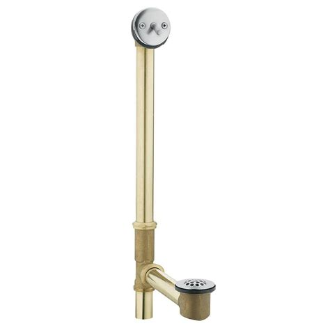 moen tub drain brass tubing whirlpool  trip lever drain assembly  chrome   home