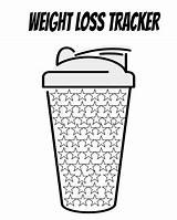 Loss Weight Printable Tracker Trackers Track sketch template